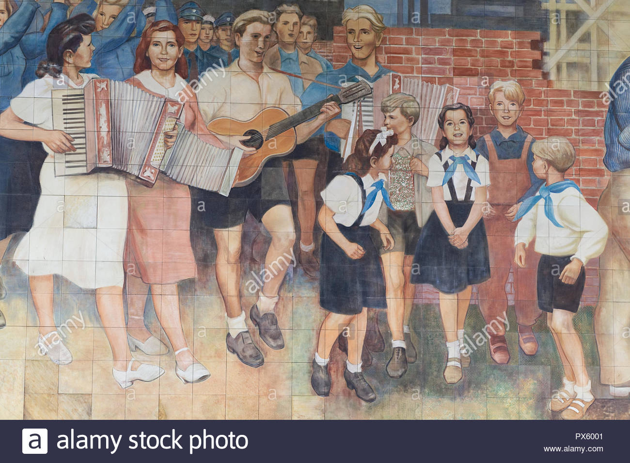 sound of music mosaic Berlin Germany - Stock Image