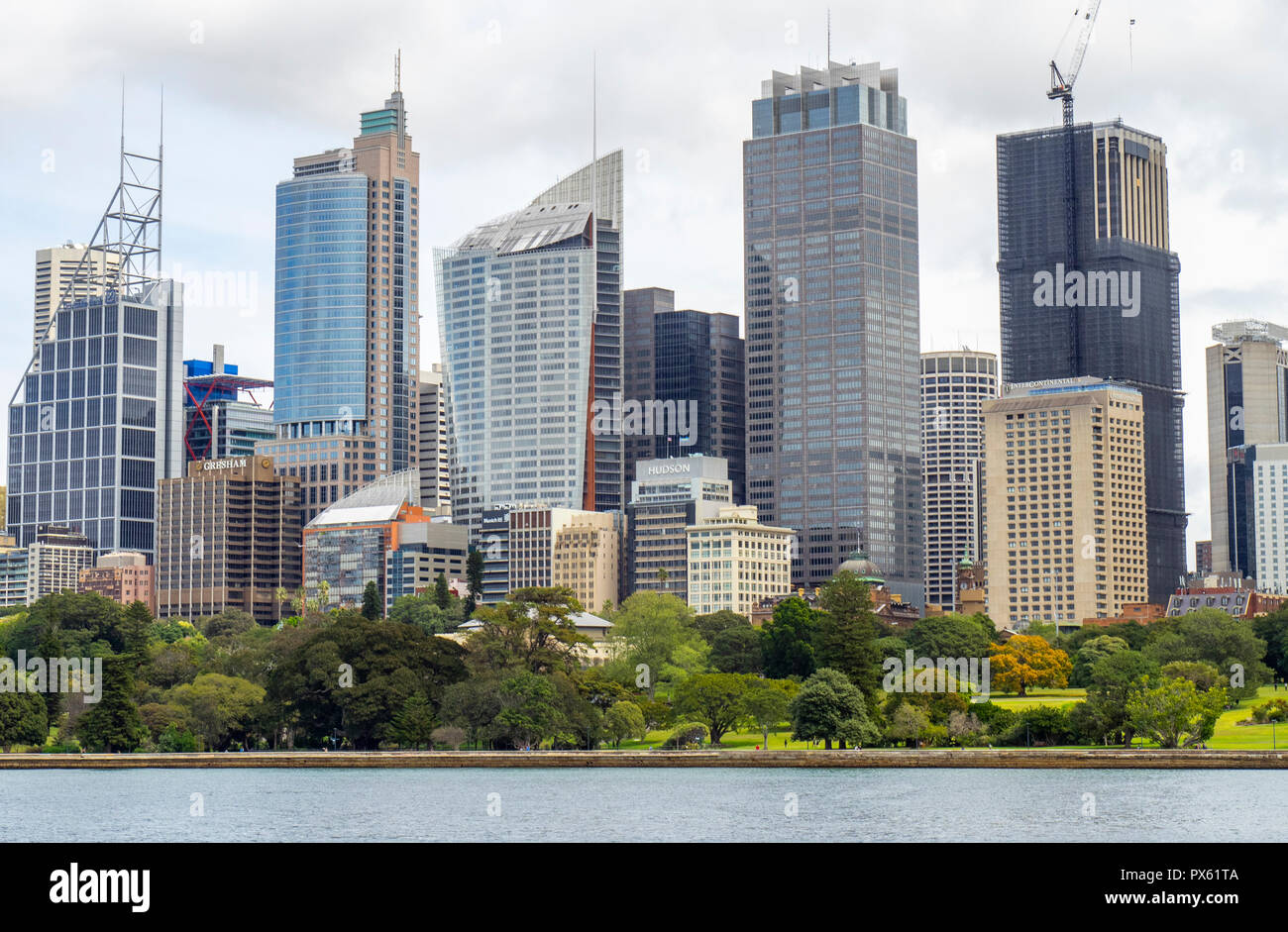 Office buildings towers and skyscrapers of CBD Sydney NSW Australia. Stock Photo