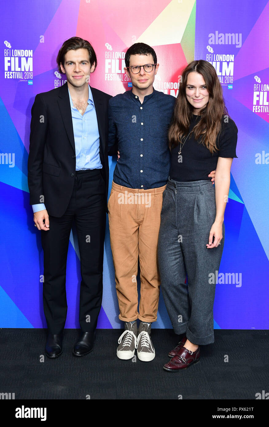 James Righton , Simon Amstell and Keira Knightley and