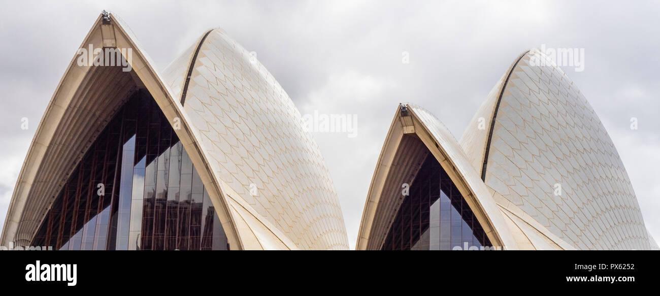 The sails of the Sydney Opera House Sydney NSW Australia. Stock Photo