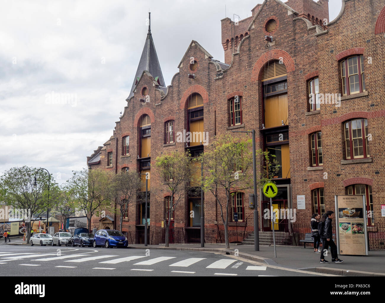 ASN Co Building bond stores or warehouses redeveloped into offices and art gallery in The Rocks Sydney NSW Australia. Stock Photo