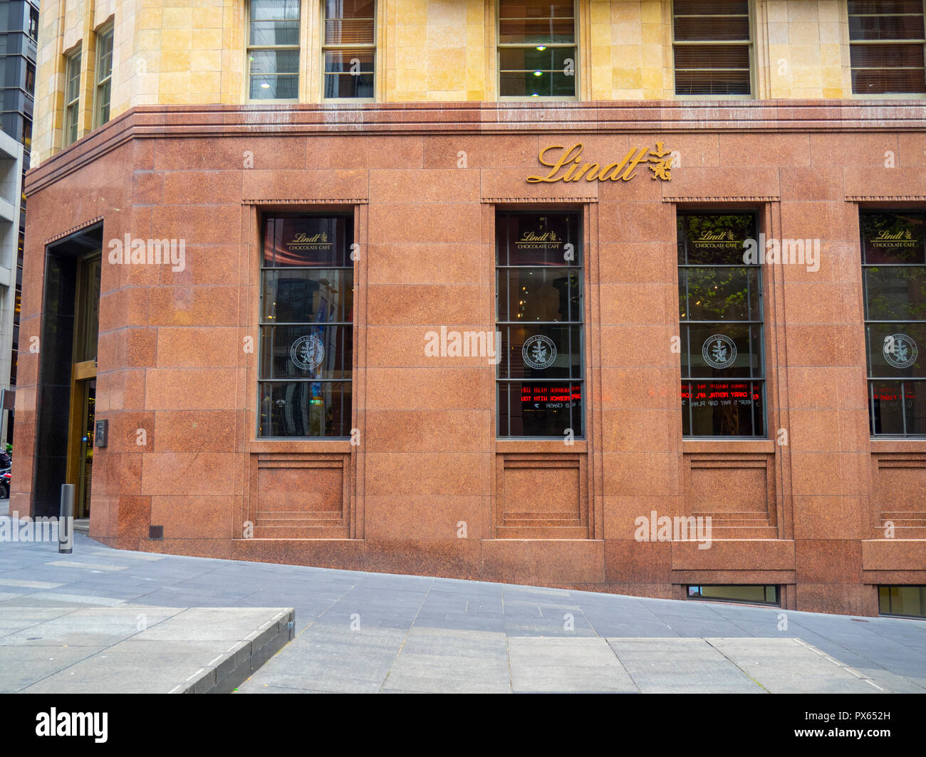 Lindt Cafe Martin Place Mall Sydney NSW Australia. - Stock Image
