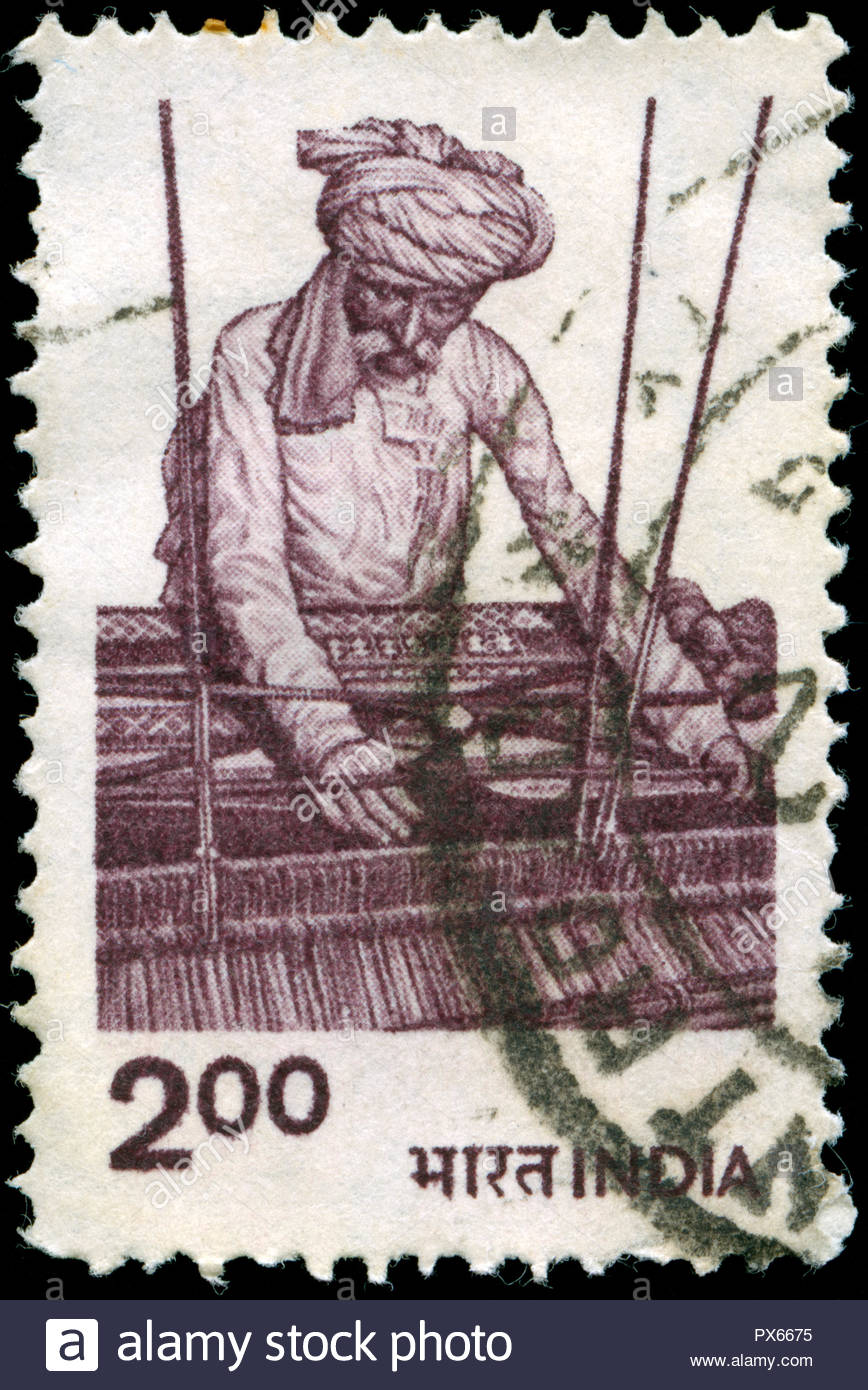 Postmarked stamp from India in the Agriculture series issued in 1983 - Stock Image