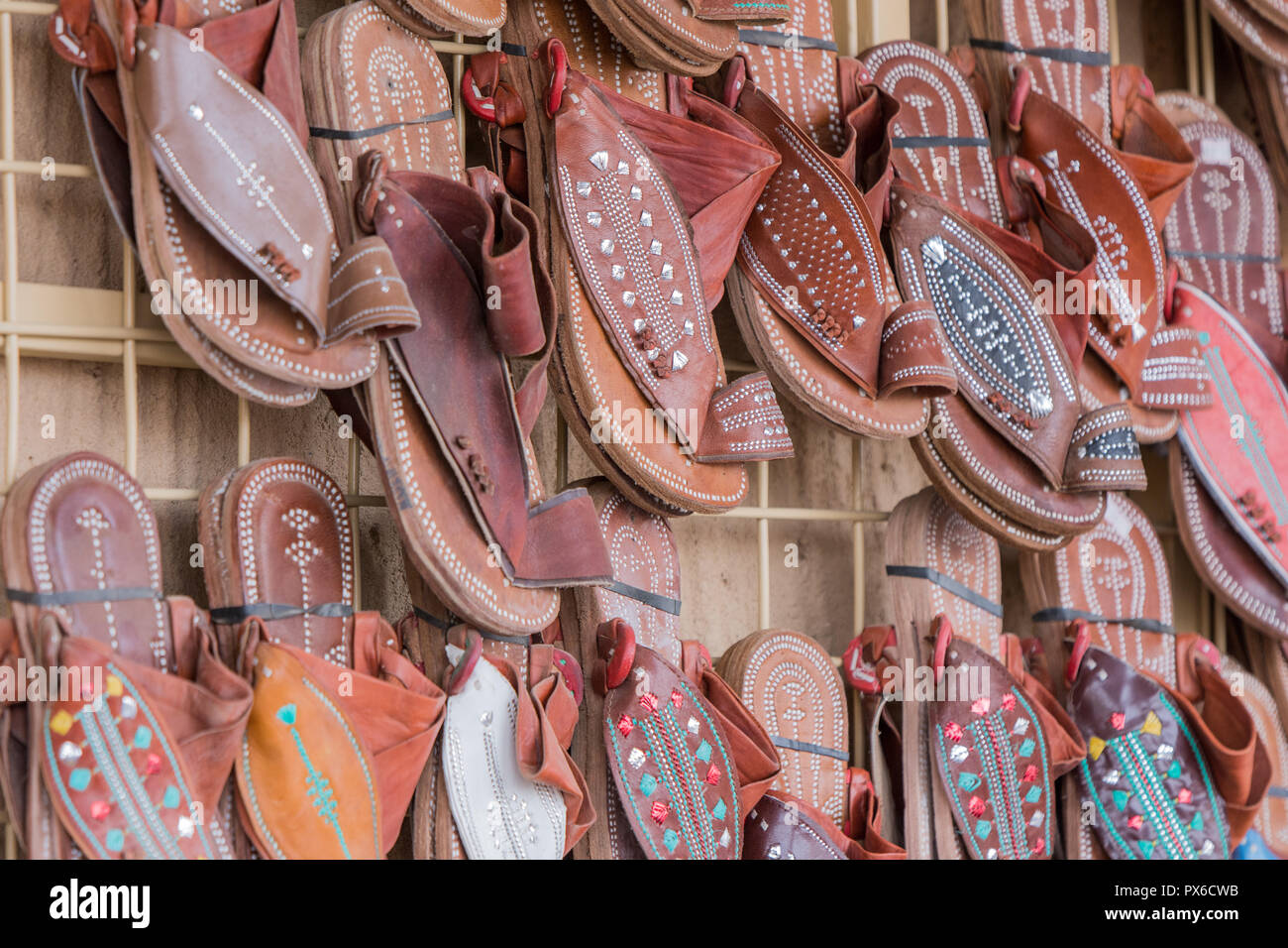traditional shoe of Arab cloth Stock Photo