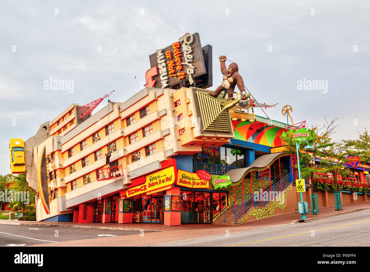 NIAGARA FALLS, CANADA - AUG 27, 2012: Ripley's Believe It or Not! building, an oddity museum located in the heart of Niagara Falls on Clifton Hill, On - Stock Image
