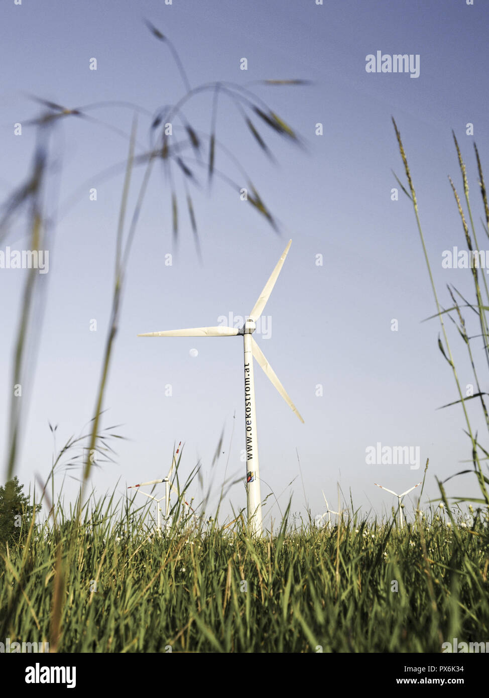 Windpark Parndorf, Austria, wind wheels, Burgenland, Northern Burgenland, Parndorf Stock Photo