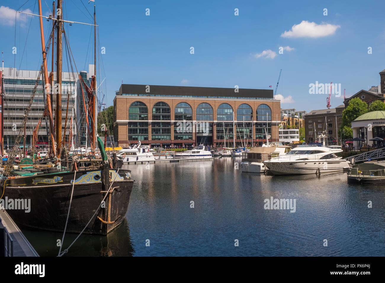 St Katharine Docks, London, England, UK - Stock Image