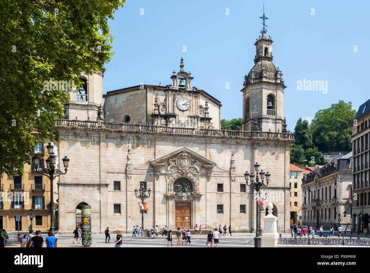 San Nicolas Church, Bilbao, Spain, Europe - Stock Image