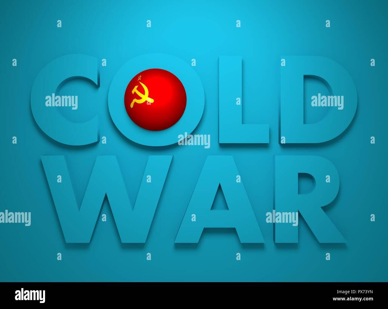 Soviet Union confrontation United States America concept Cold War