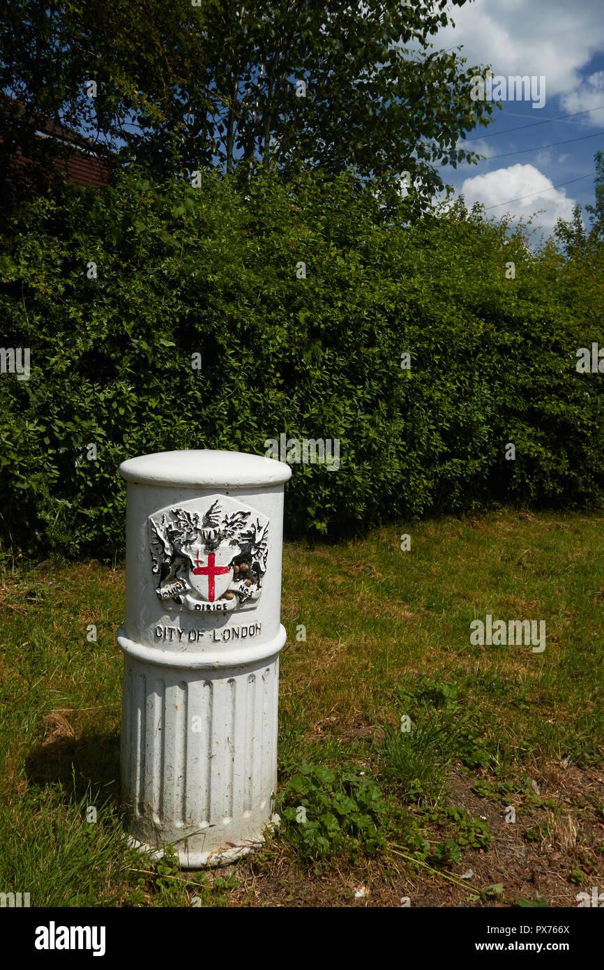 Milemarker in New Addington, Croydon, England, United Kingdom,, Europe - Stock Image
