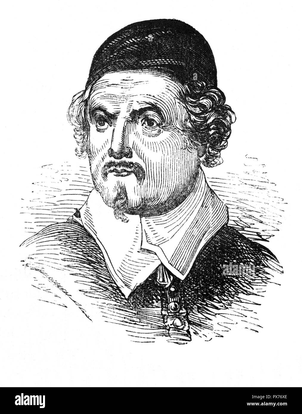 John Taylor (1578-1653), born in Gloucester, was an English poet who dubbed himself 'The Water Poet' having spent much of his life as a Thames waterman, a member of the guild of boatmen that ferried passengers across the River Thames in Londons. Fancying himself as a poet, in 1630 he published a collection of over 150 poems. None of the poems are very good, but reveal of the life and times of people in the early modern period. He was well-enough known to gain the support of King Charles 1 when he campaigned against the pollution and hindrances to navigation of some of England's rivers. - Stock Image