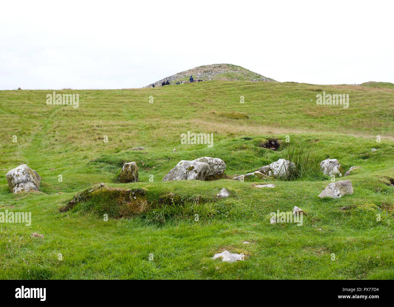Loughcrew's Ancient Passage Tombs, Co Meath, Ireland Stock Photo