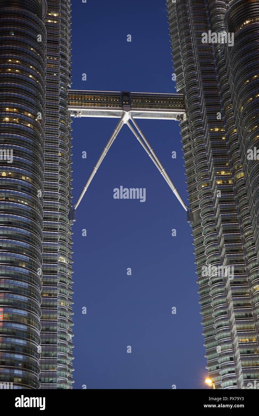 skybridge of Petronas Twin Towers, Malaysia - Stock Image
