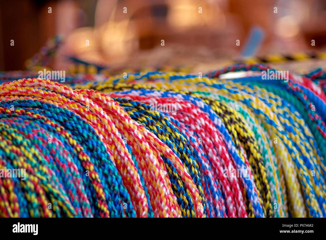 Concept Kaltblutmarkt 2018 : Ropes - Stock Image
