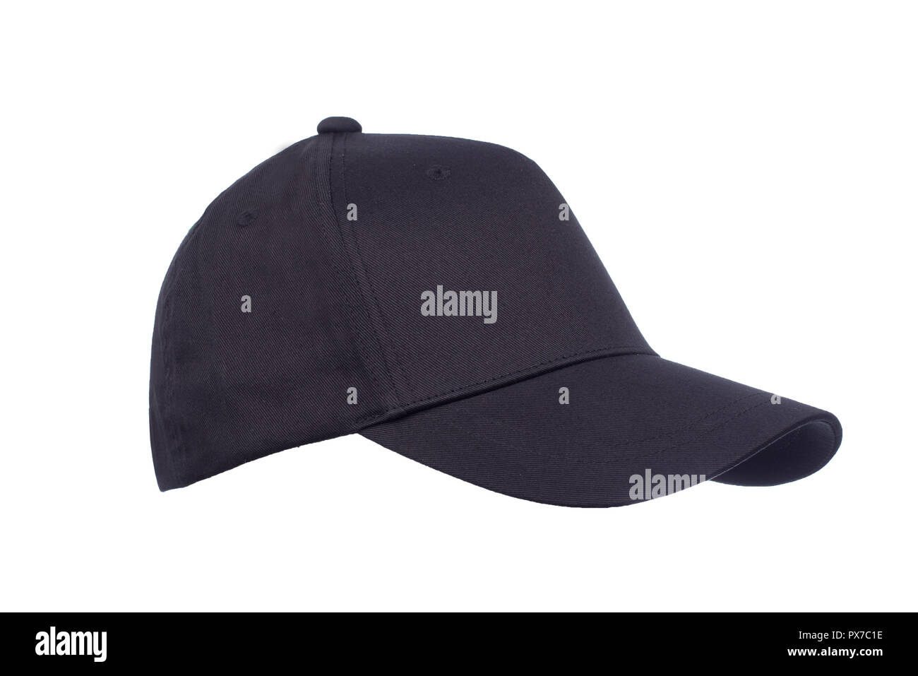 45805283 Closeup of the fashion blac isolated on white background. Baseball Cap,  sport. -