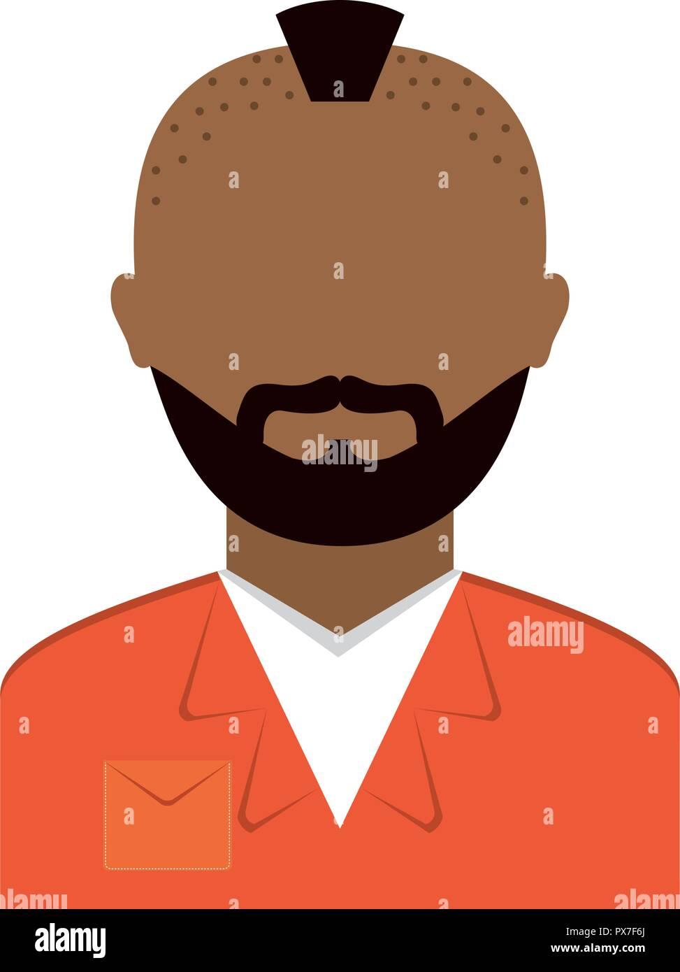 danger bandit avatar character vector illustration design - Stock Image