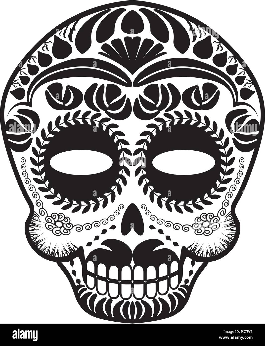 day of the dead skull mask template.html