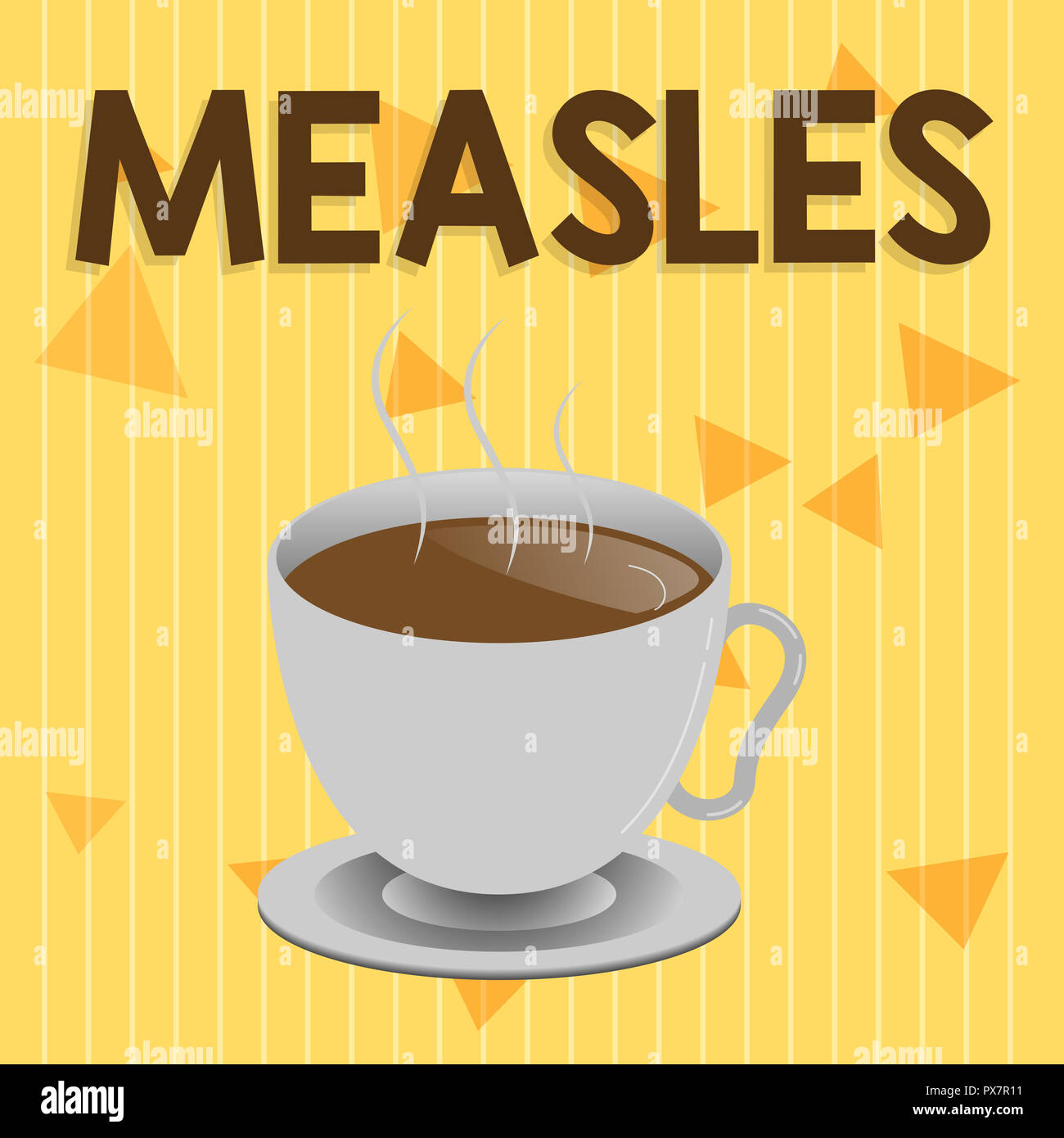 Handwriting text Measles. Concept meaning Infectious viral disease causing fever and a red rash on the skin. - Stock Image