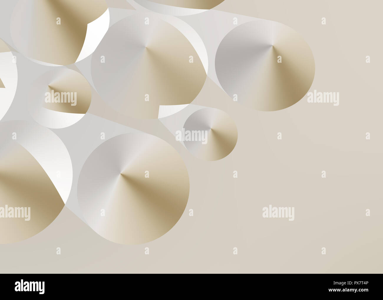 Abstract cone background, 3D - Stock Image