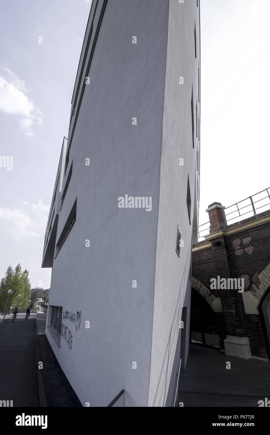Zaha Hadid on the Danube canal, Austria, Vienna, Danube Channel Stock Photo