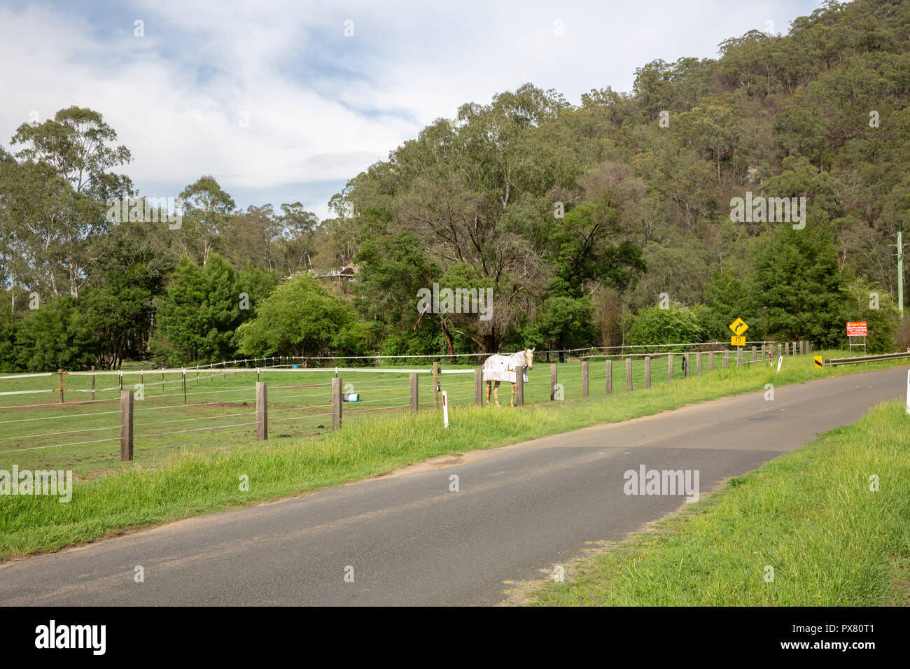 Countryside around the Colo River in New South Wales,Australia - Stock Image