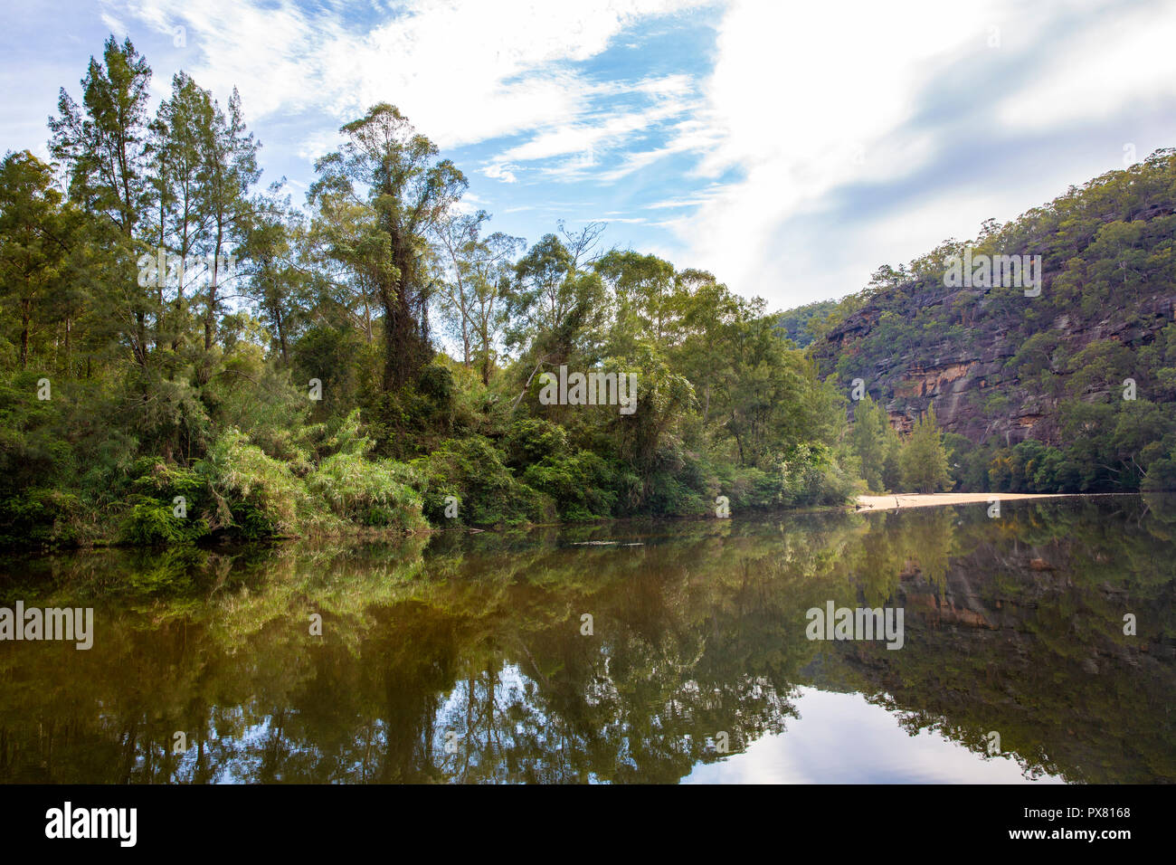 Colo River i regional New South Wales,Australia - Stock Image