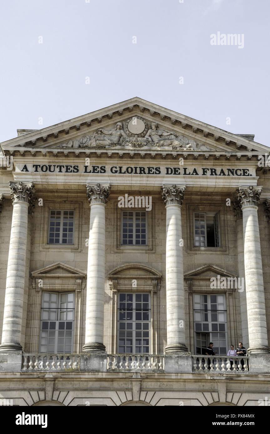 Paris, Versailles Castle, A Toutes Les Gloires De La France, France, Versailles - Stock Image