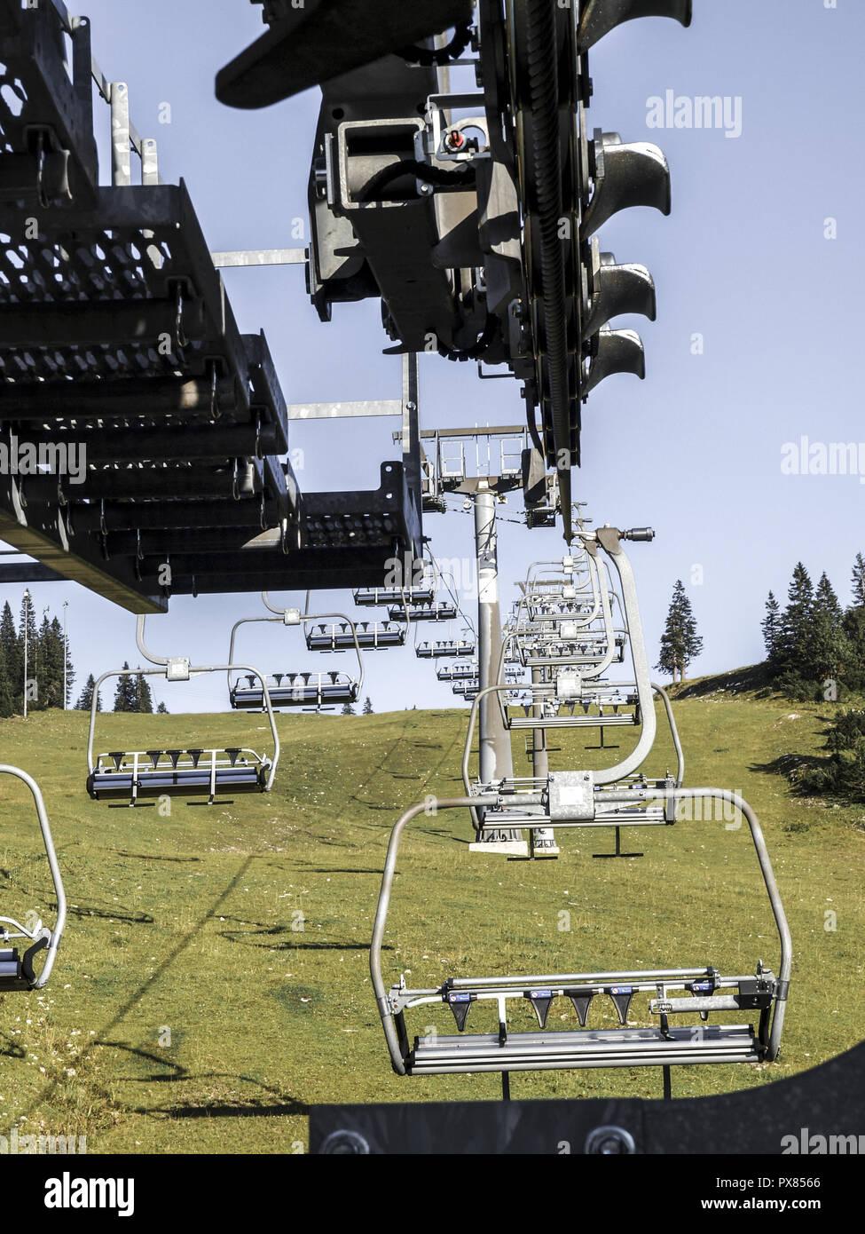 Hochkarbahn, Austria, Lower Austria, Hochkar Stock Photo