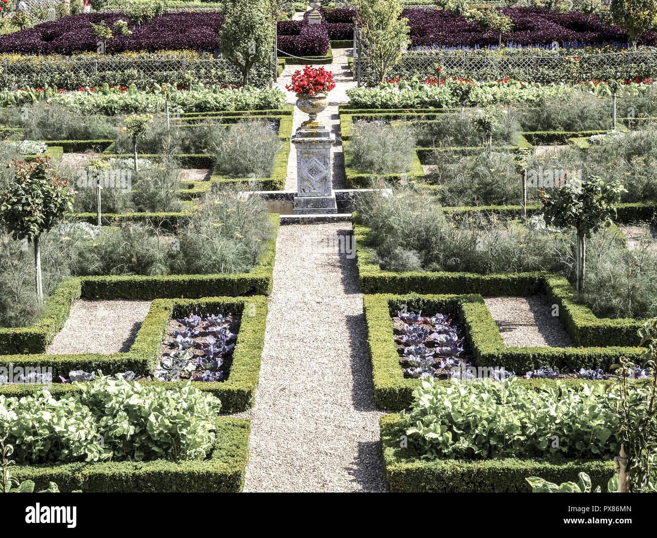 Chateau Et Jardins De Villandry Indre Et Loire Historical Garden