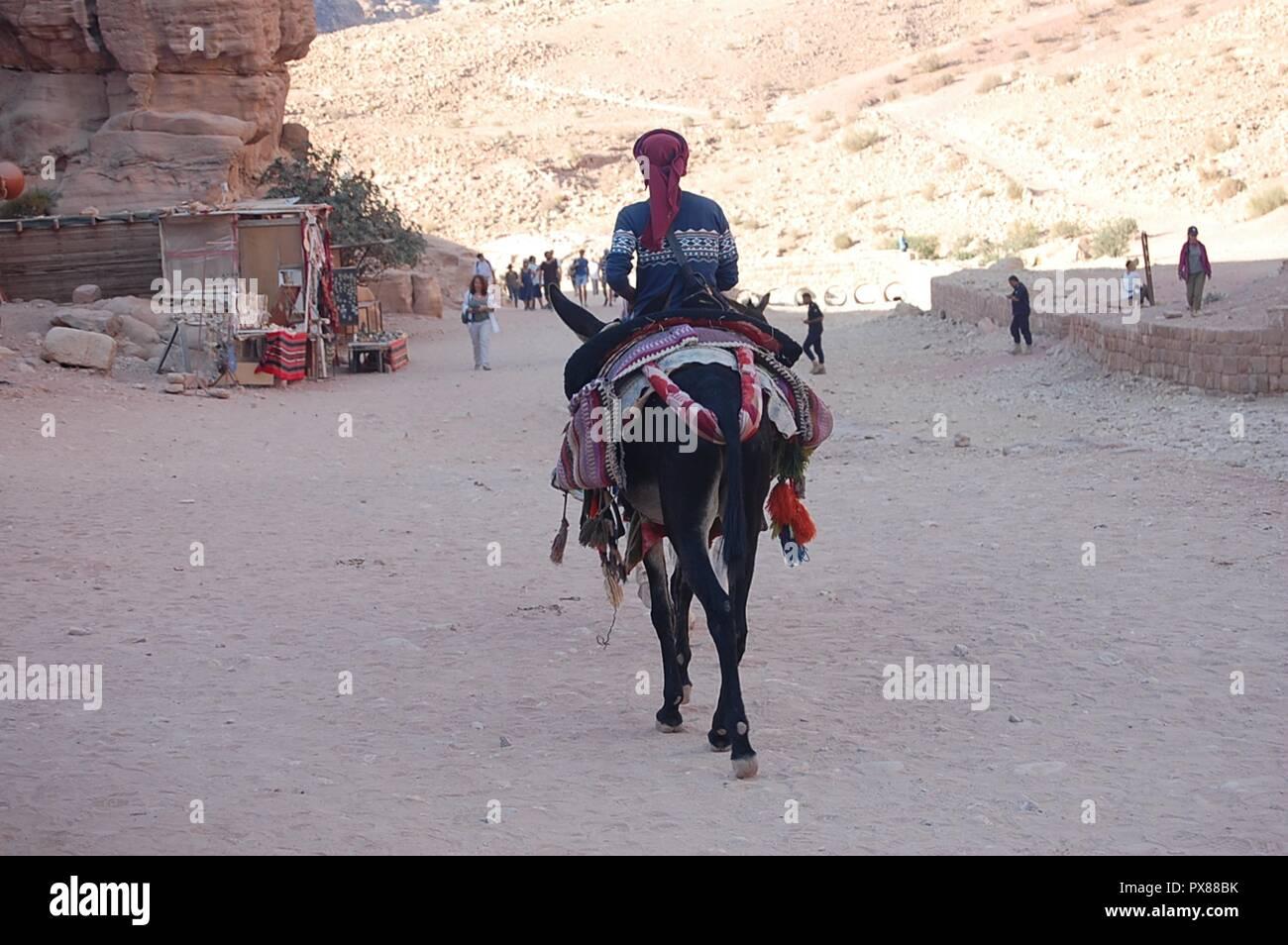 Desert of Petra, Jordan - Stock Image