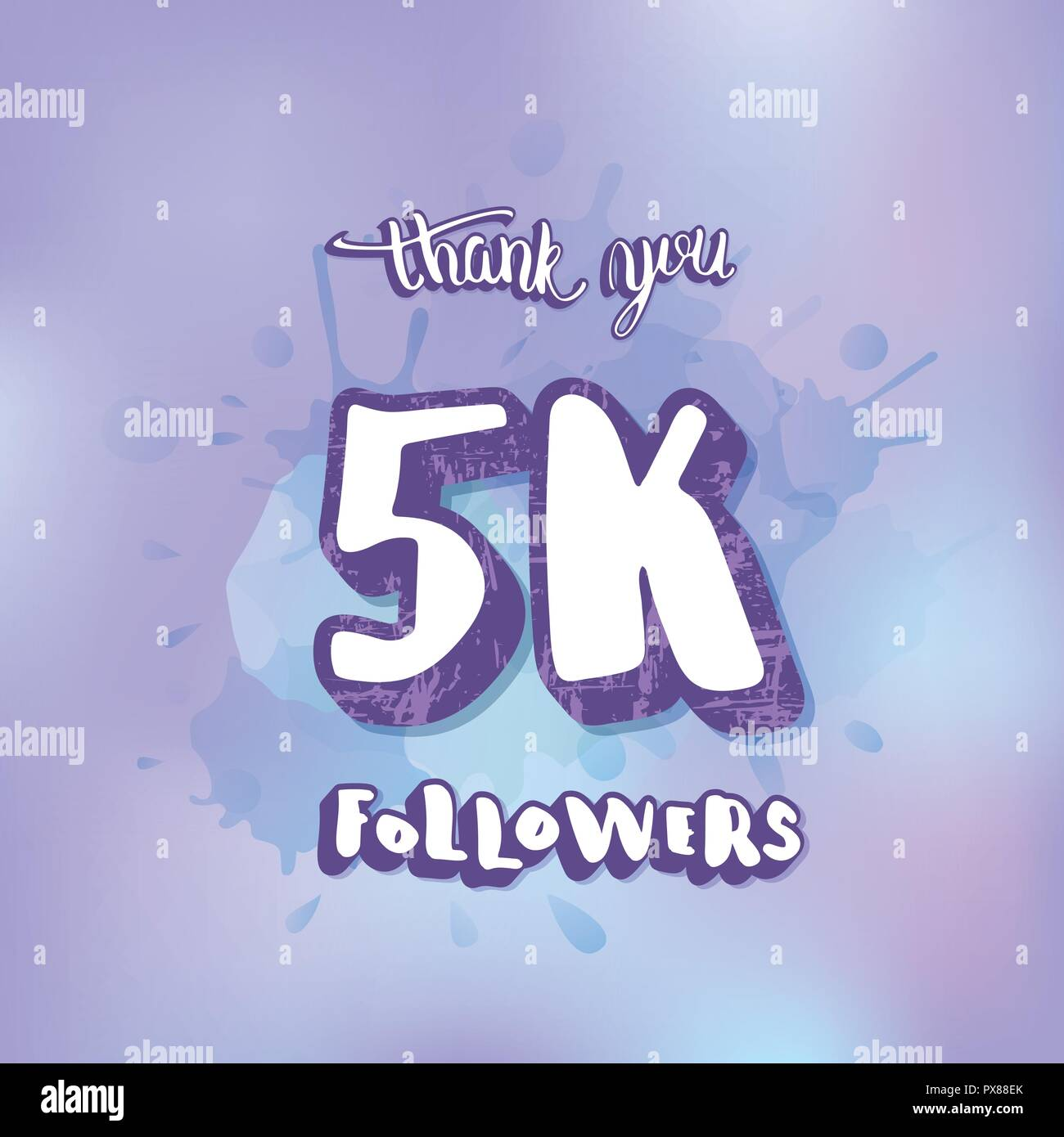 5000 followers thank you social media template banner for internet