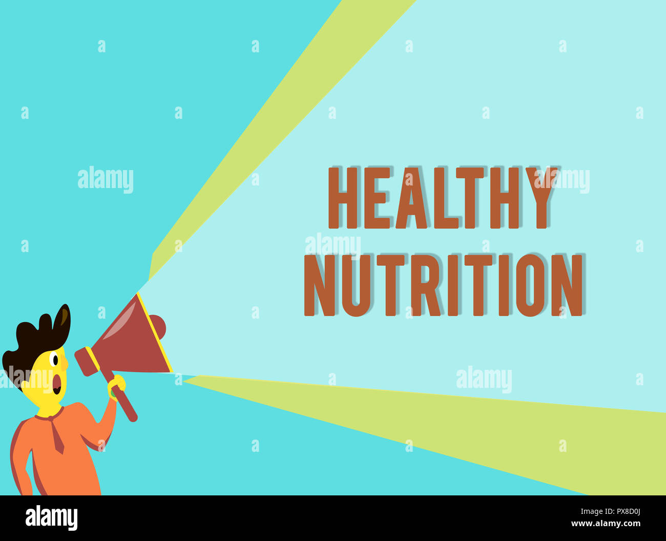word writing text healthy nutrition business concept for eating a