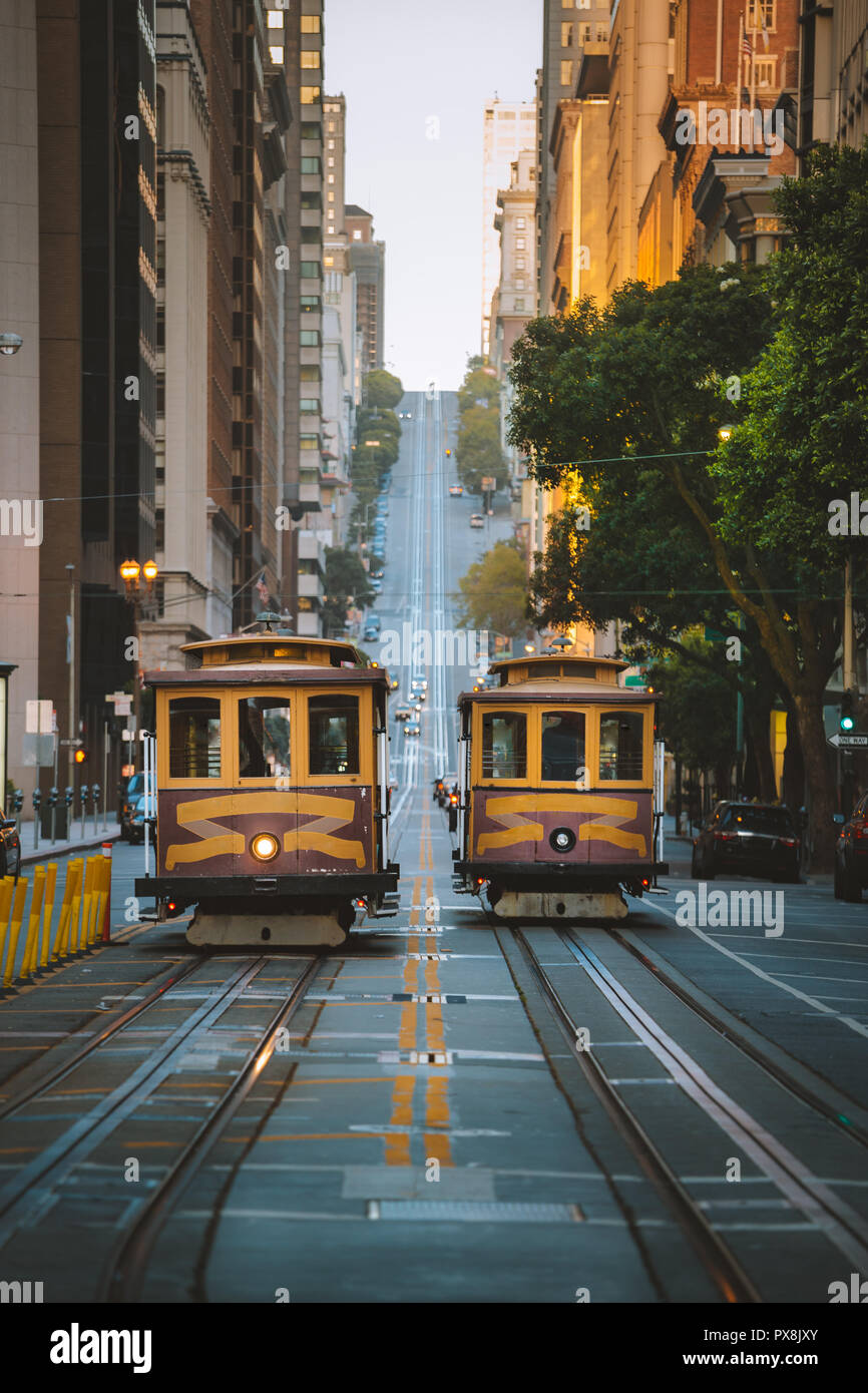 San Francisco Vintage Street Car Stock Photos & San