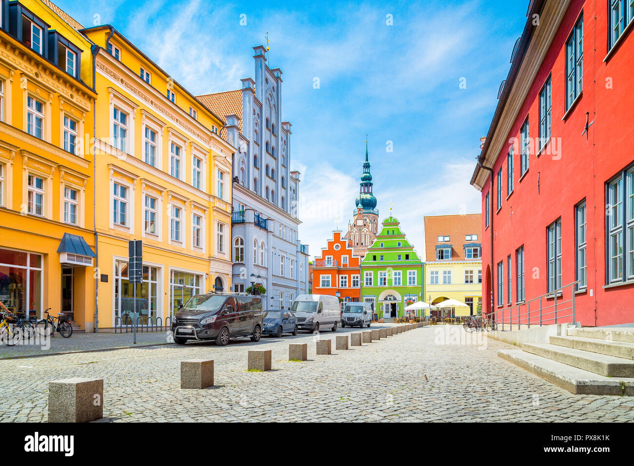 Historic city of Greifswald, Mecklenburg-Vorpommern, Germany - Stock Image