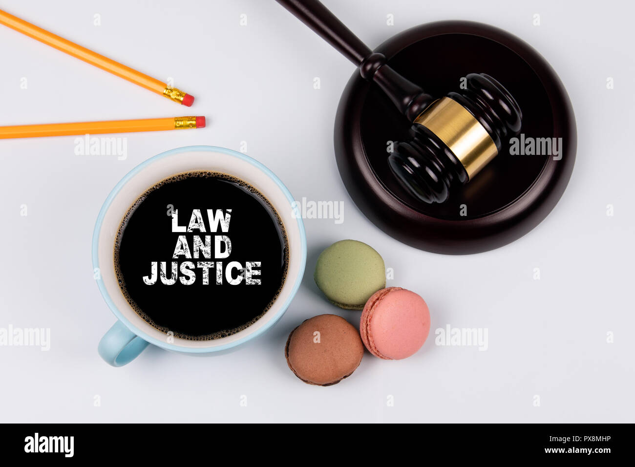Law and justice concept - Stock Image