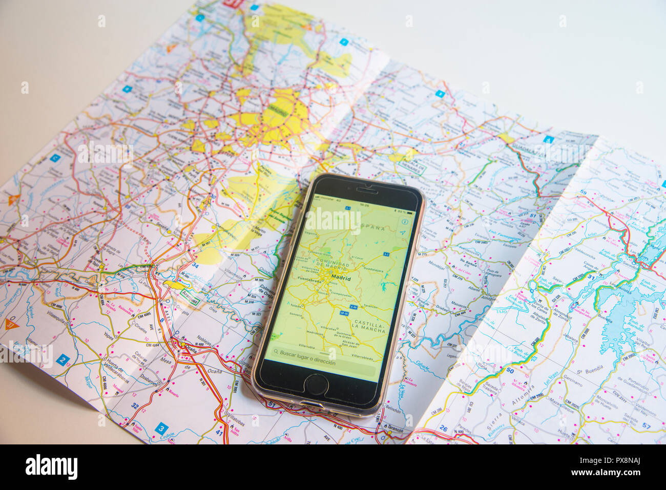 Road Map Of Spain.Road Map Of Spain Stock Photos Road Map Of Spain Stock Images Alamy