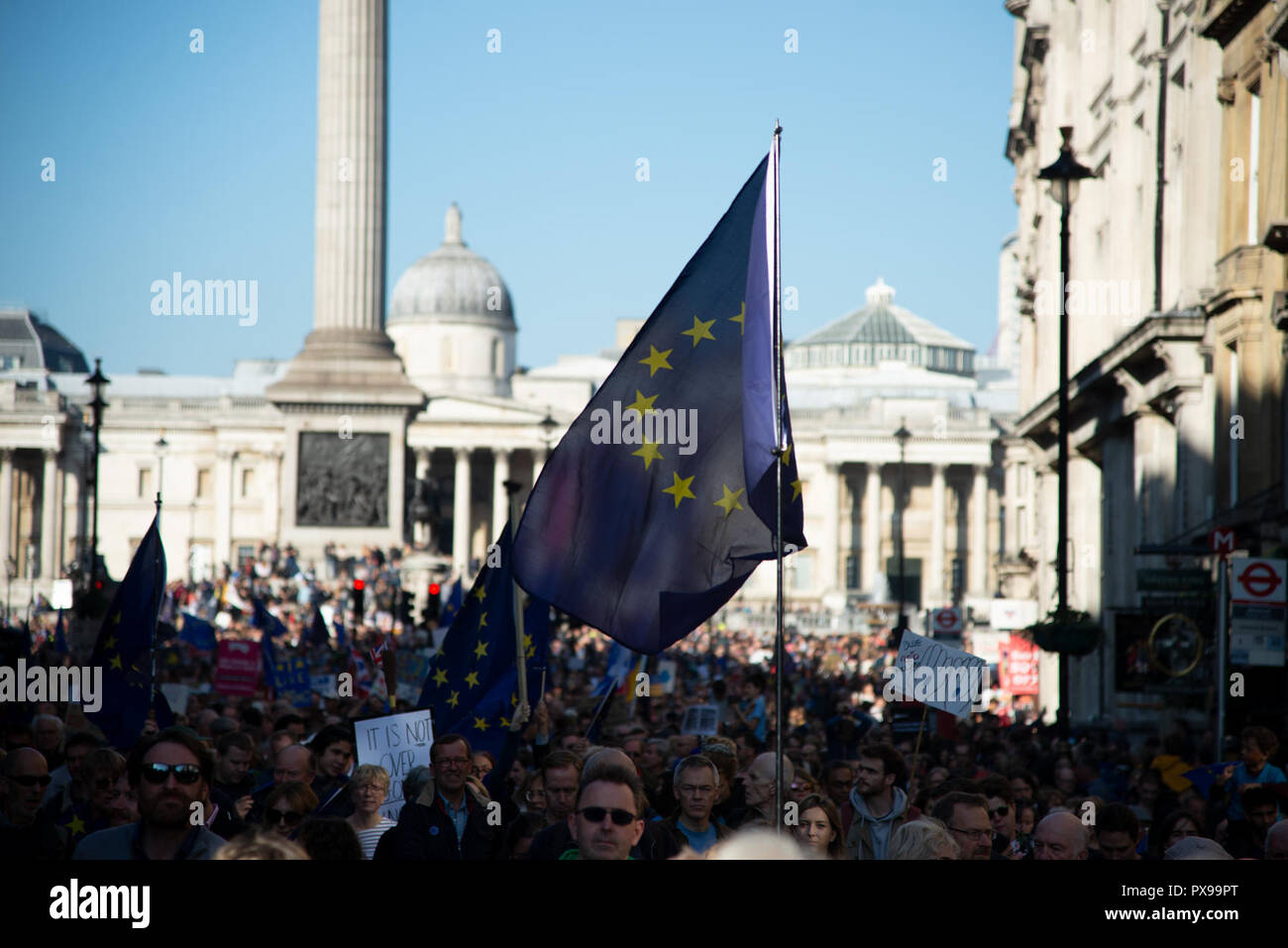 London, UK. 20th Oct, 2018. People's Vote - March for the Future against Brexit Credit: A.Bennett/Alamy Live News. - Stock Image