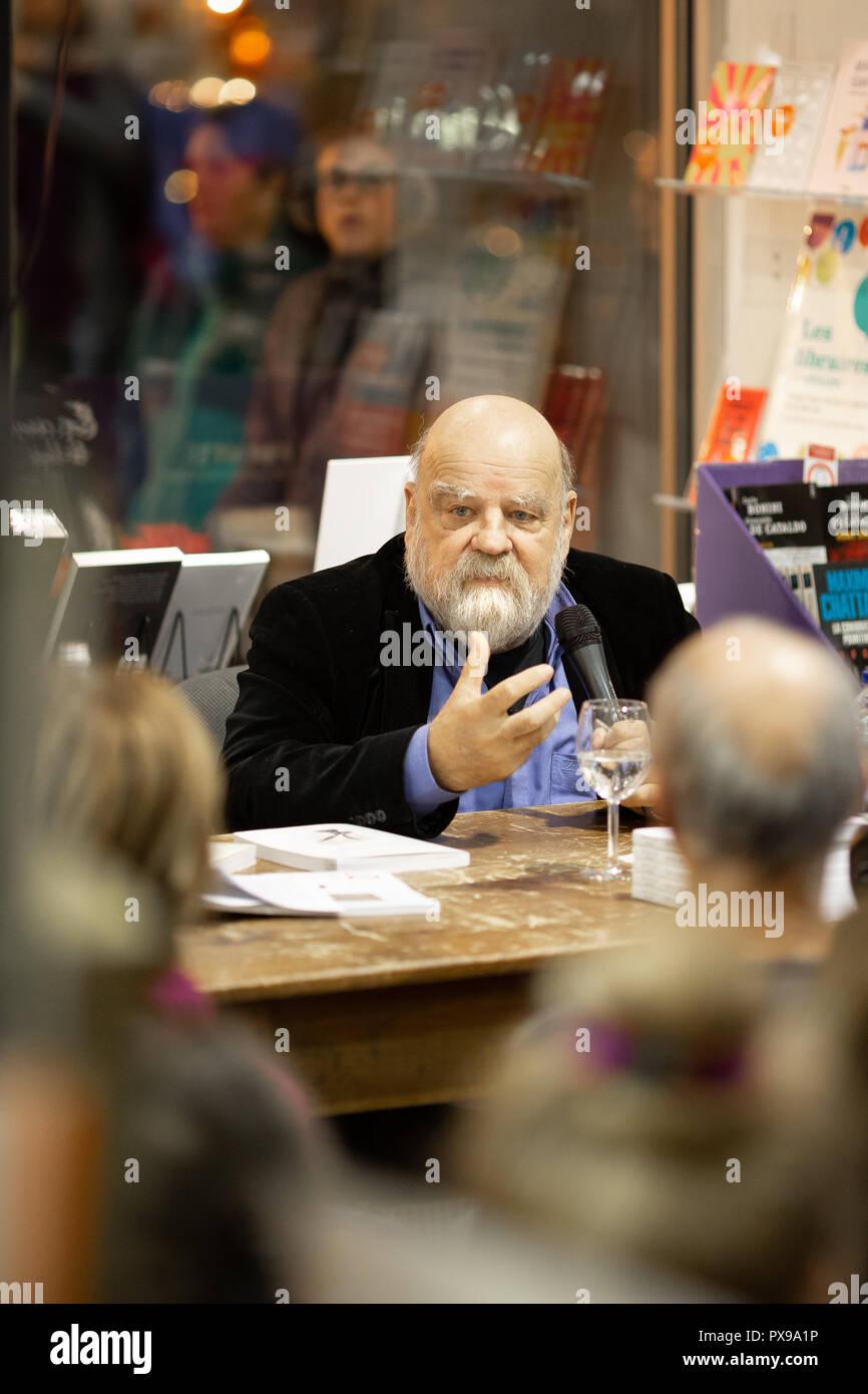 """Causerie avec Serge Bouchard, anthropologue, autour de son livre """"L'œuvre du grand lièvre filou"""". Stock Photo"""