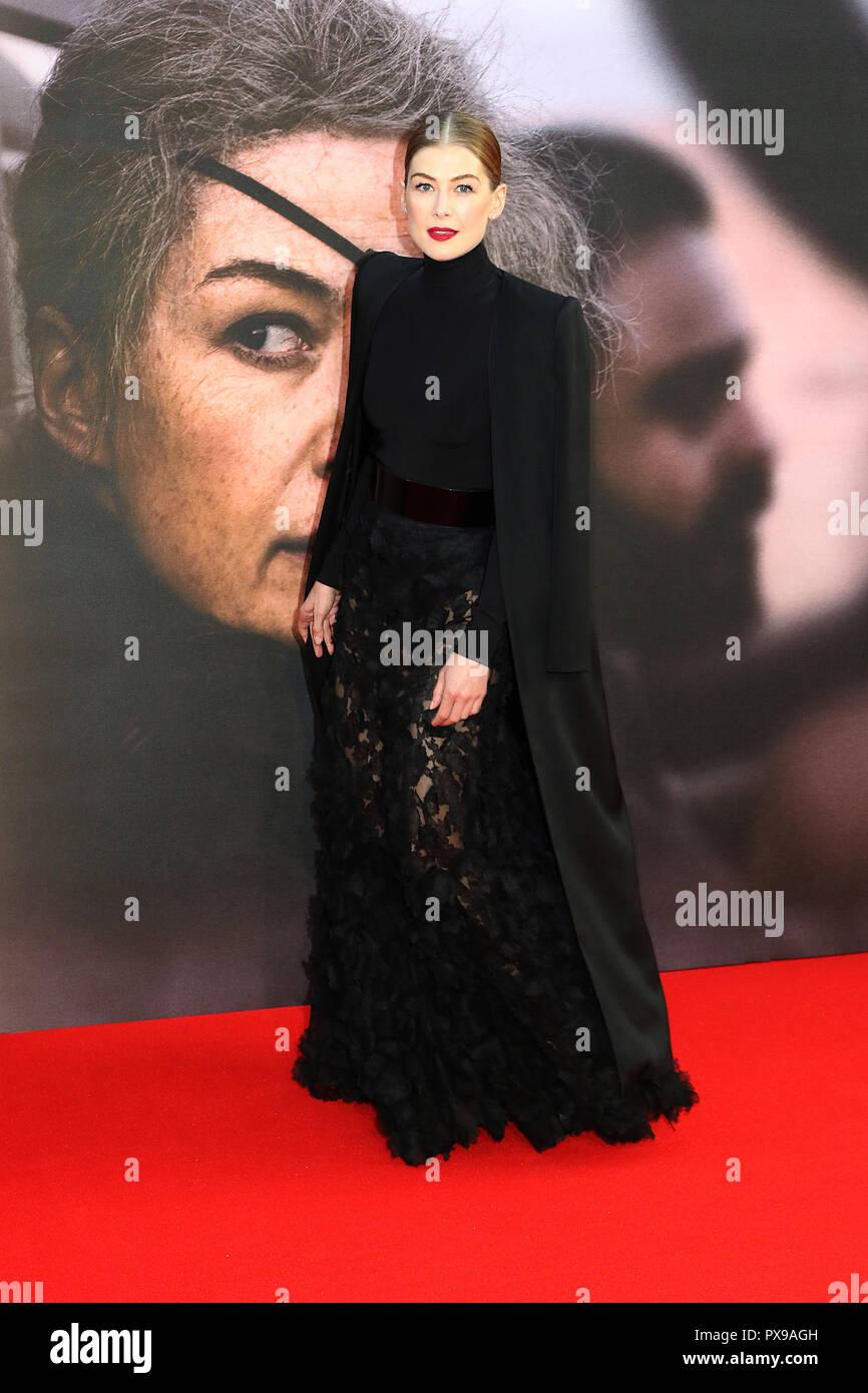Rosamund Pike, A Private War - European Premiere, BFI London Film Festival, Leicester Square, London, UK, 20 October 2018, Photo by Richard Goldschmidt - Stock Image