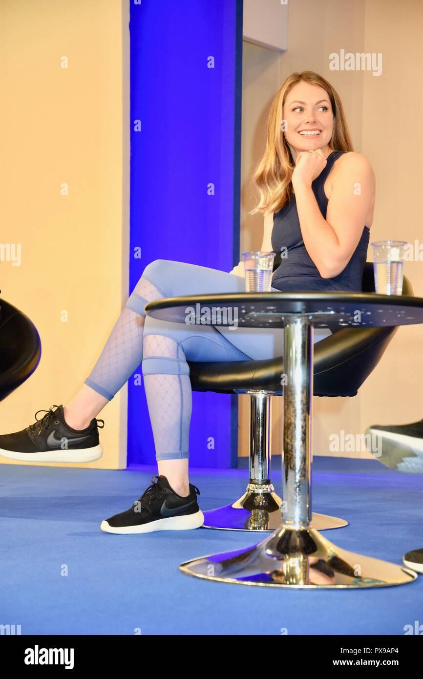 Georgia Jones,Gave a talk on Pre & Postnatal Fitness,The Baby Show,Kensington Olympia,London.UK - Stock Image