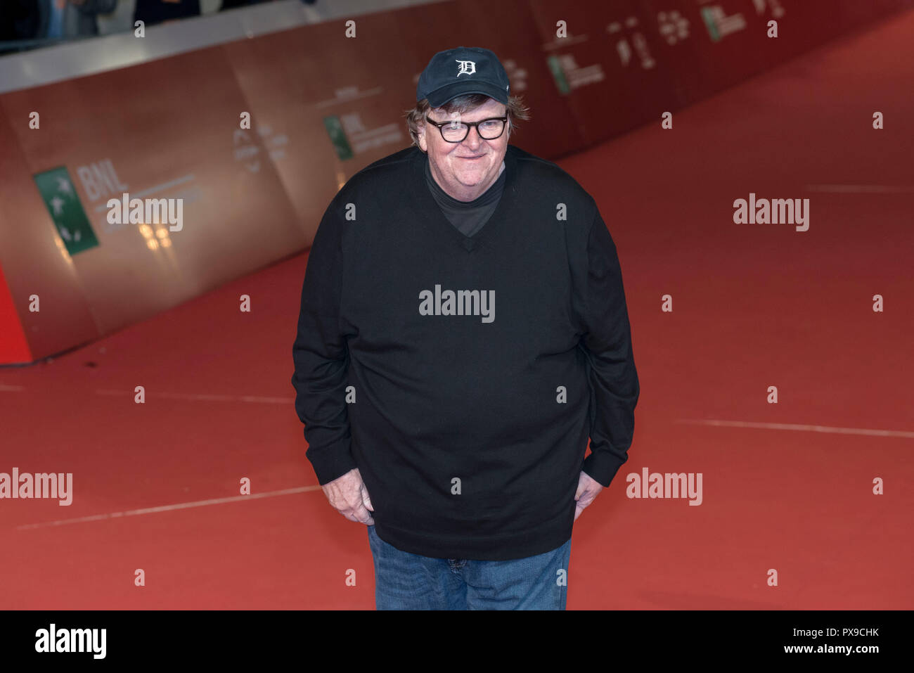 Rome, Italy. 20th Oct, 2018. Michael Moore attending the red carpet for Fahrenheit 11/9 at Rome Film Fest 2018 Credit: Silvia Gerbino/Alamy Live News Stock Photo
