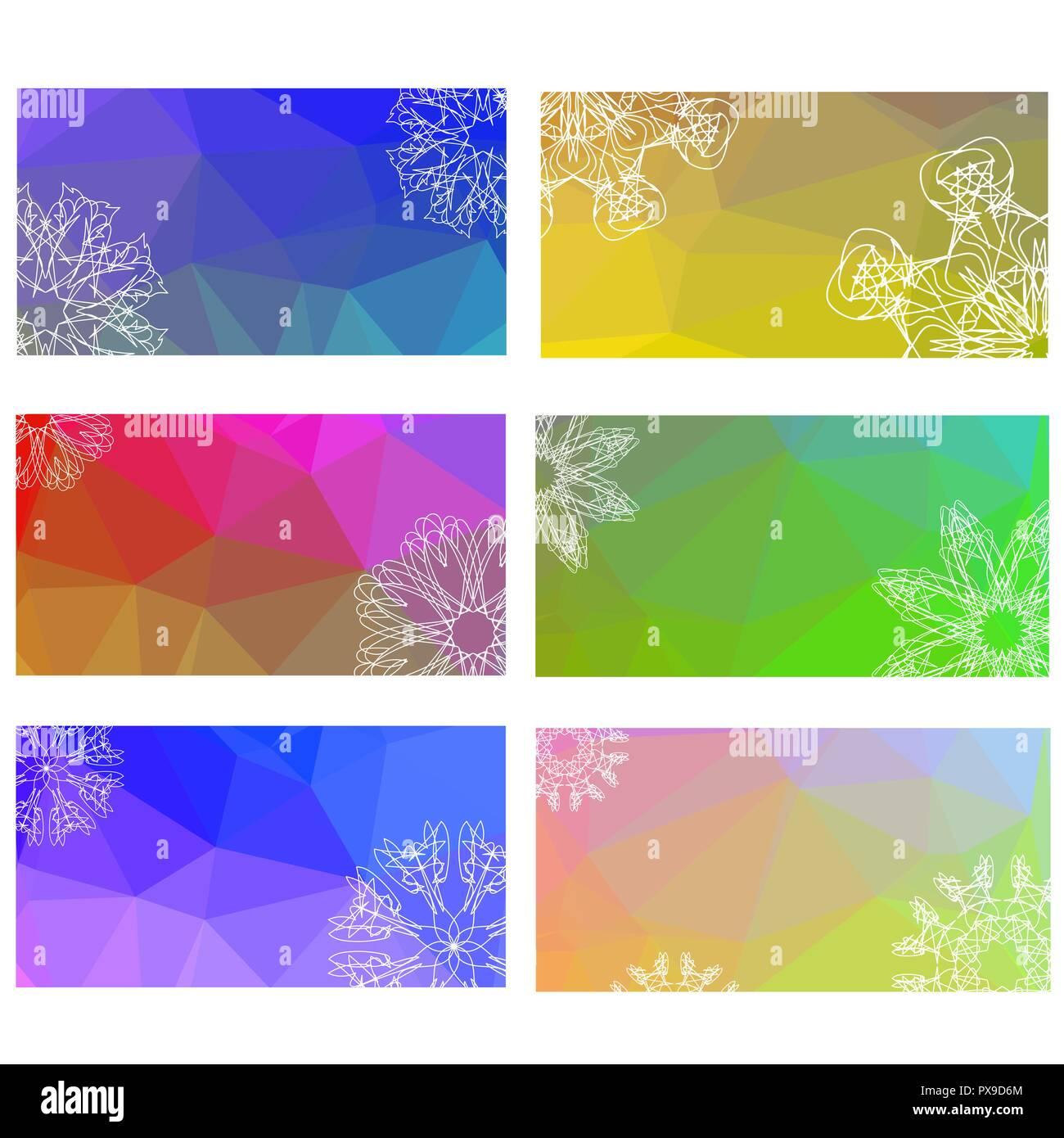 colorful henna mandala design winter flyer background stock vector