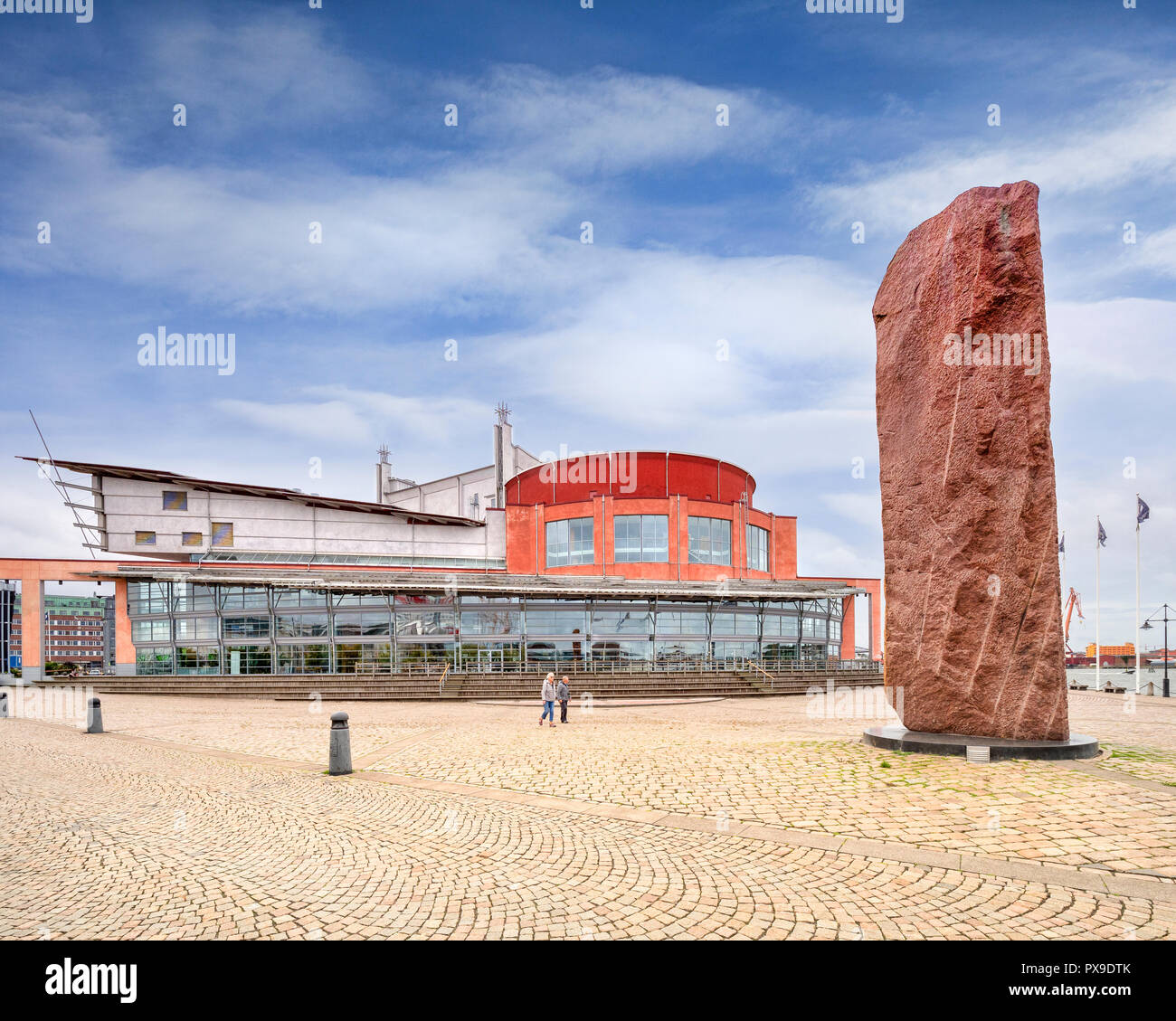 14 September 2018: Gothenburg, Sweden - Gothenburg Opera House in the Lilla Bommen area of the harbour district, by architect Jan Izikowitz. - Stock Image