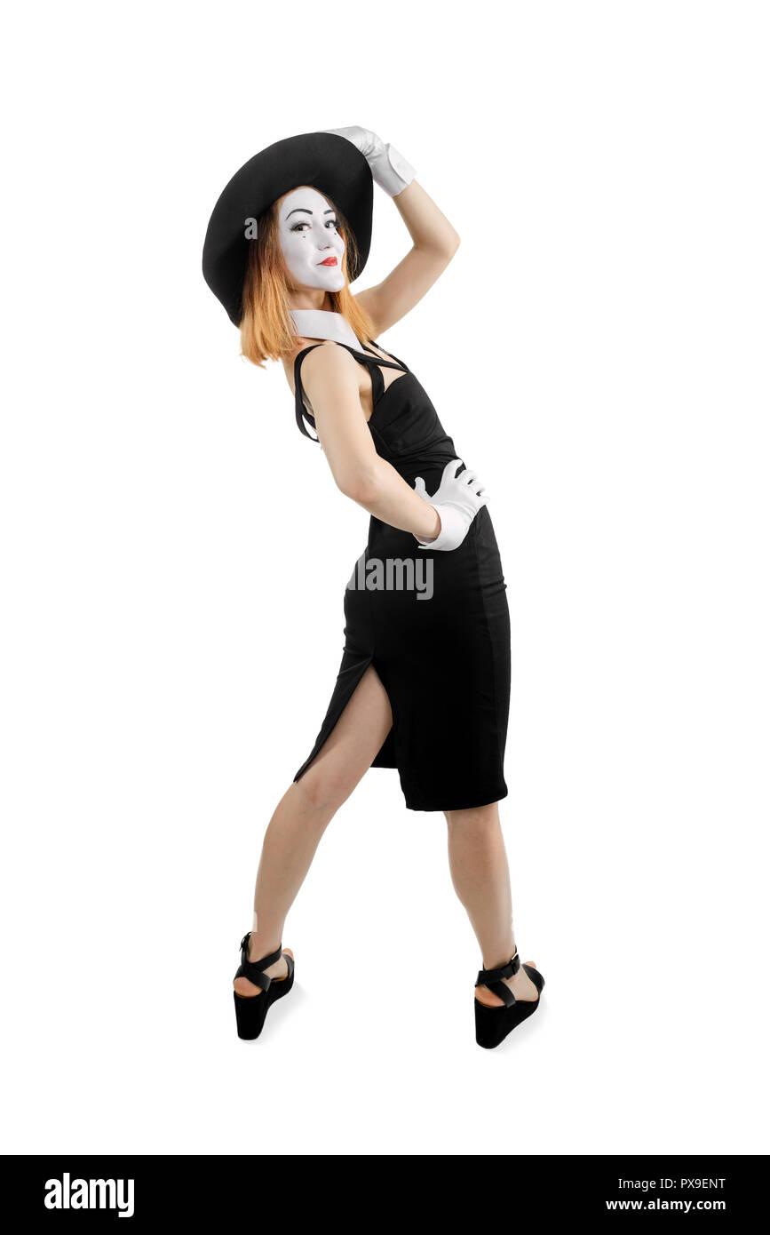 Mime actress posing - Stock Image