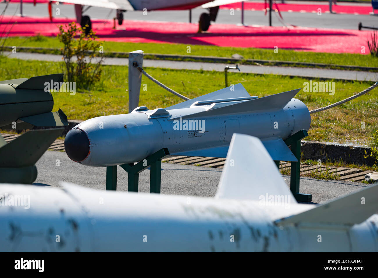 ISTANBUL, TURKEY - 4 APRIL , 2017: Museum of aviation in Istanbul is represented by a large collection of military civil aircraft and also the history Stock Photo