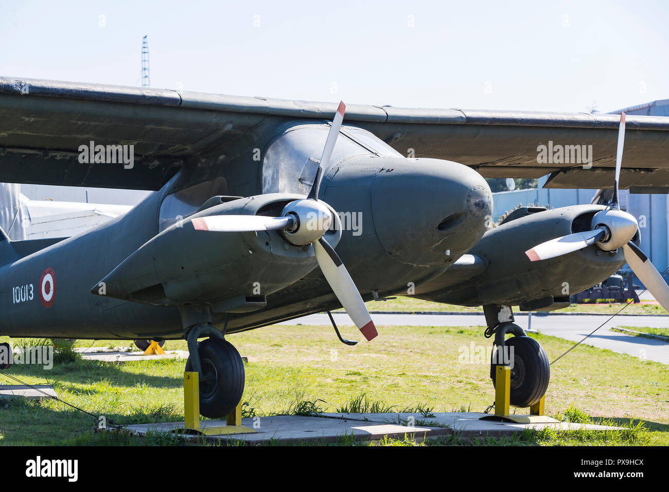 ISTANBUL, TURKEY - 4 APRIL , 2017: Museum of aviation in Istanbul is represented by a large collection of military civil aircraft and also the history - Stock Image