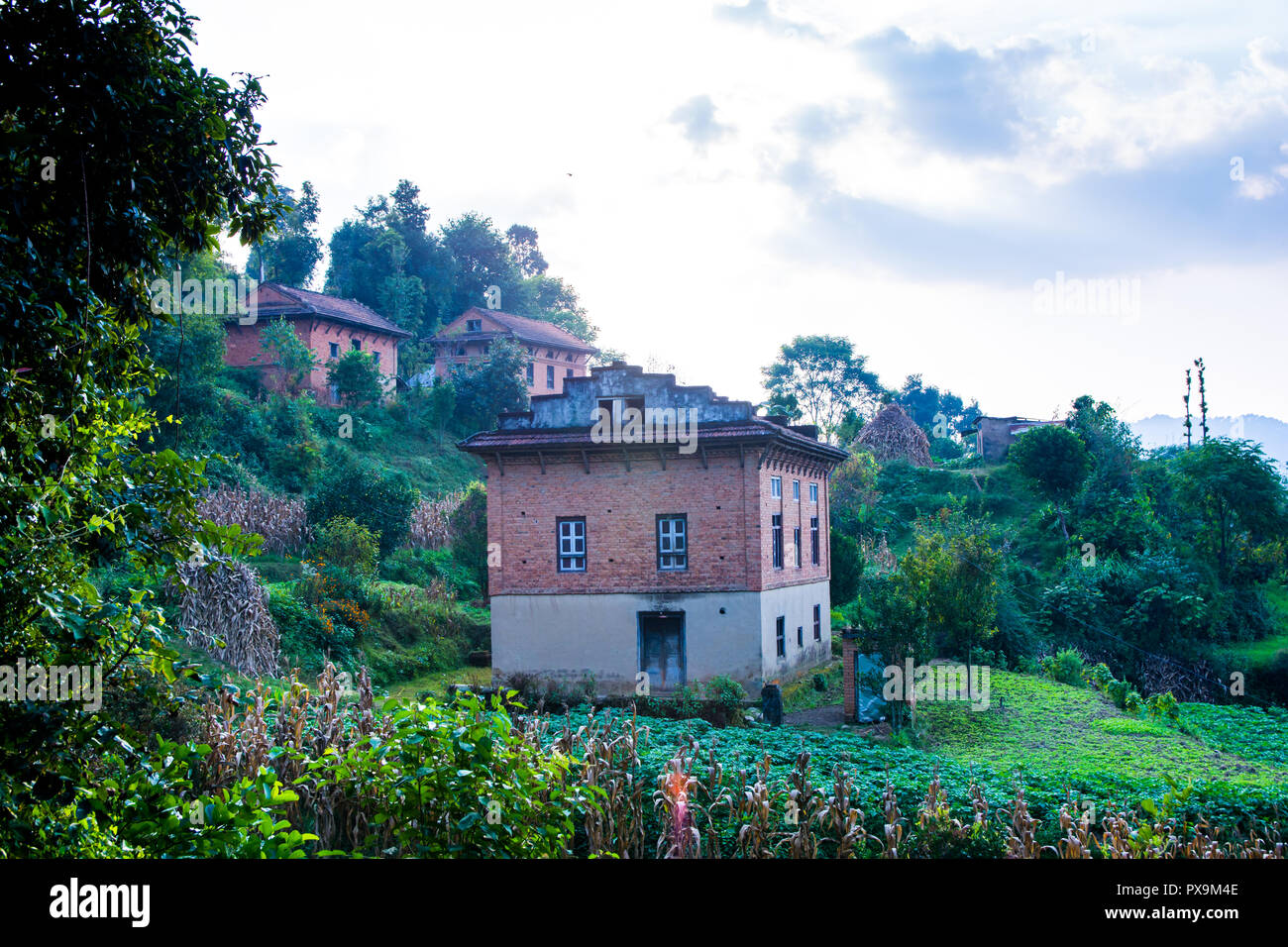 Village Houses from Nepal - Stock Image