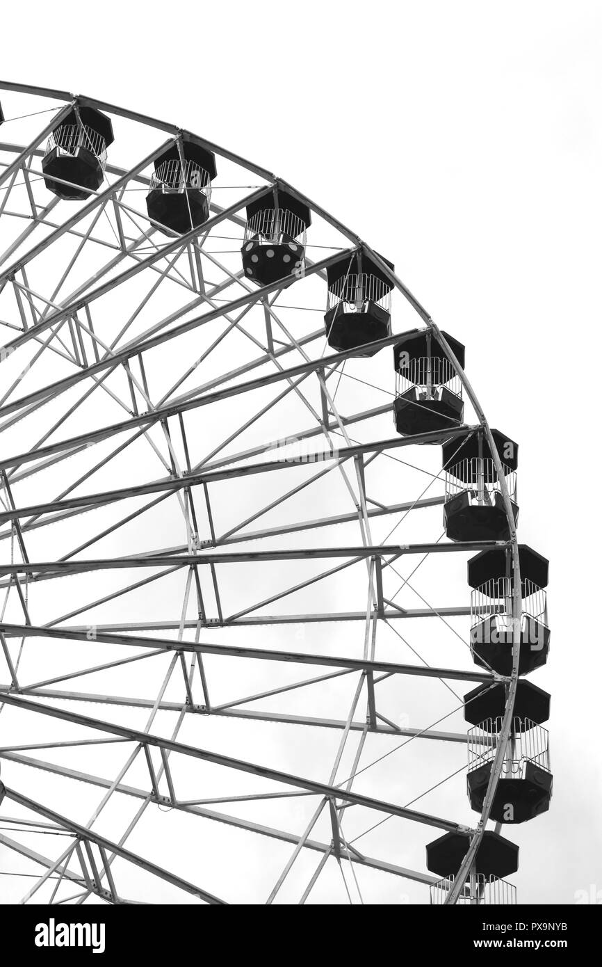 The Giant Ferris Wheel on the Jolly Roger at the Pier Amusements, Ocean City, New Jersey, USA - Stock Image