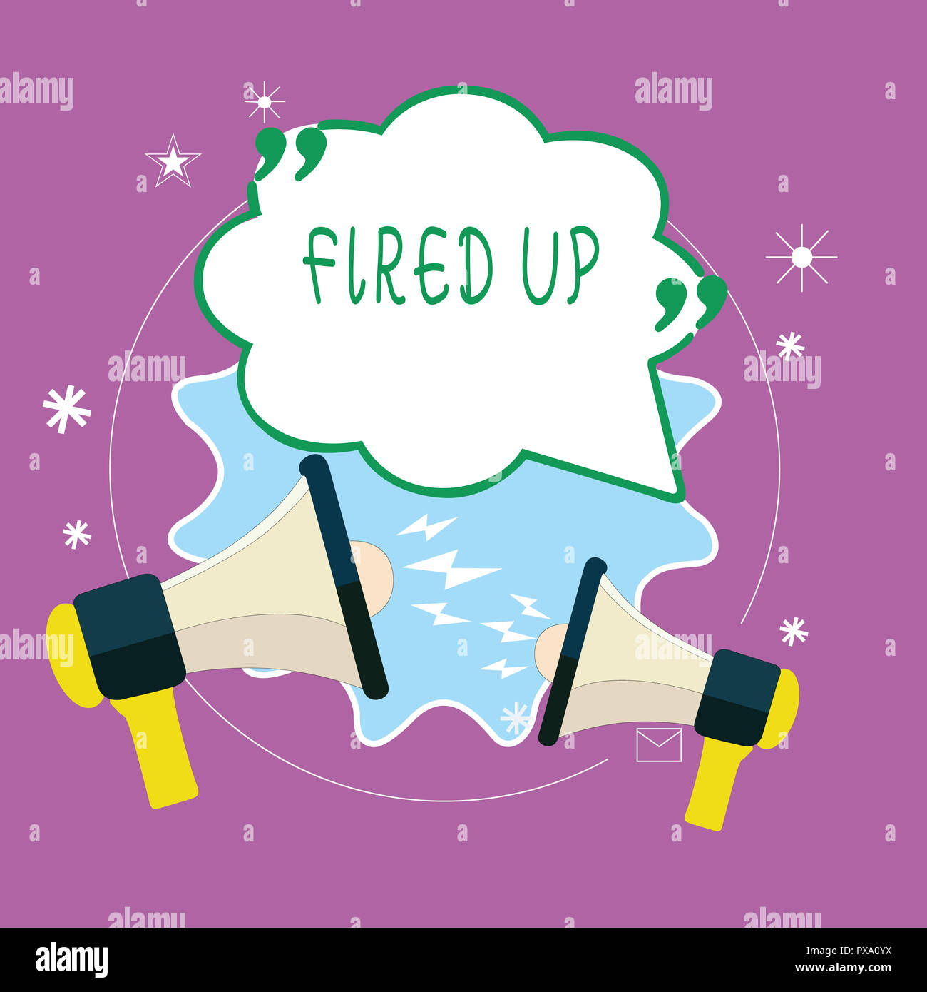 Handwriting Text Writing Fired Up Concept Meaning Means That