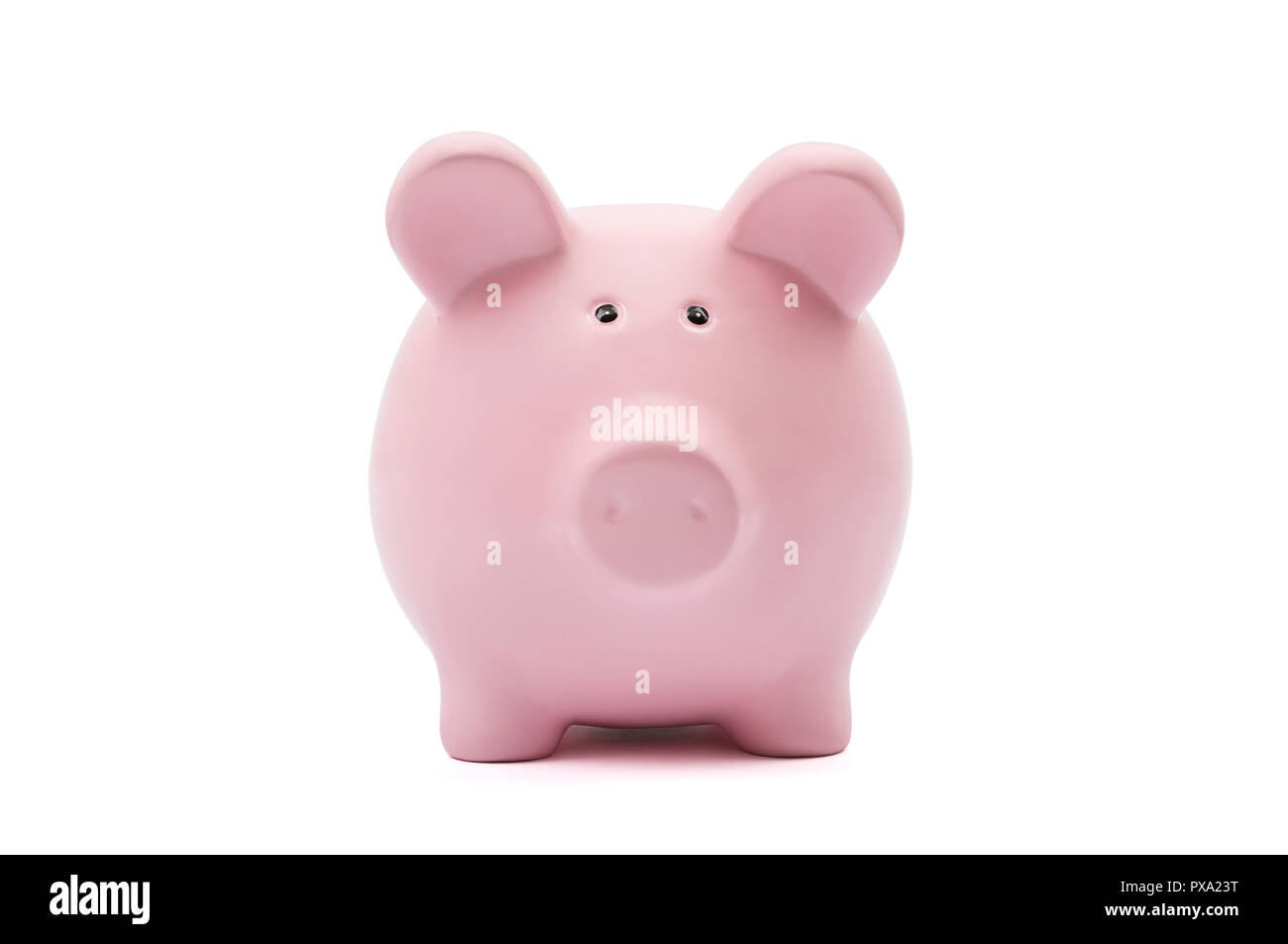Piggy bank on white background with clipping path Stock Photo